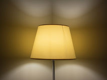 Lamp with lampshade in the night Royalty Free Stock Photo