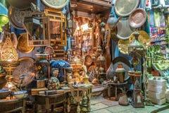 Lamp of Lantaarnwinkel in de Khan El Khalili-markt in Islamitisch Ka?ro royalty-vrije stock afbeelding