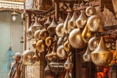 Lamp of Lantaarnwinkel in de Khan El Khalili-markt in Islamitisch Ka?ro royalty-vrije stock afbeeldingen