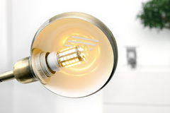 Lamp with led light bulb Stock Image