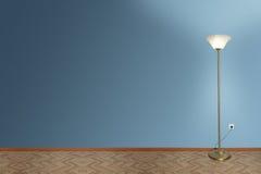 Lamp in lege ruimte Royalty-vrije Stock Afbeelding