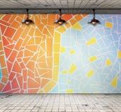 Lamp in Lege ruimte met Kleurrijke mozaïektegel Royalty-vrije Stock Afbeelding