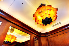 The lamp in lift of modern luxury hotel Royalty Free Stock Photos
