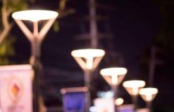 Lamp light blurred Stock Photo