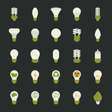Lamp and light bulb concept , icon set Stock Photos