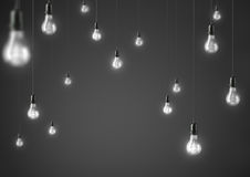 Lamp light bulbs. 3D illustration Royalty Free Stock Photography