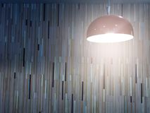 lamp light in colorful wallpaper Stock Images