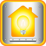 Lamp and light in house. Bright lamp and light in modern house vector illustration