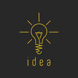 Lamp light mockup yellow business logo, fresh innovation idea icon Stock Photo