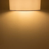 Lamp light on mortar cement wall Stock Image