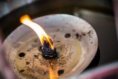 Lamp light oil Stock Photography