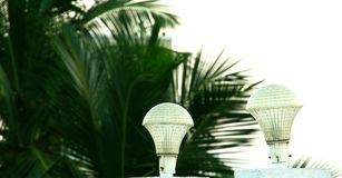 Lamp light, Outdoor Post Lighting.  Royalty Free Stock Photography