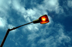 Lamp light on the street of Old Kolkata Royalty Free Stock Image