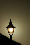 Lamp light at sunset Royalty Free Stock Images