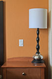 Lamp and light switch in bedroon Stock Photo