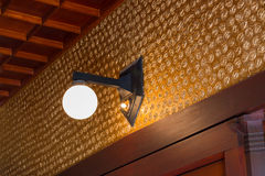 Lamp light on the wall room. Stock Image