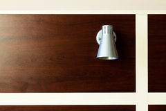 Lamp light on the wood wall Royalty Free Stock Photo