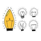 Lamp, light yellow vector illustration poster black line Stock Photo