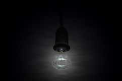 Lamp lighting on a black backgrounds Stock Photo