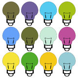 Lamp lighting Vector 3 Royalty Free Stock Images