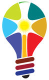 Lamp logo Royalty Free Stock Images