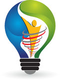 Lamp logo. Illustration art of a lamp logo with isolated background Royalty Free Stock Photos