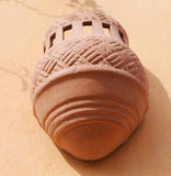 Lamp made ​​of clay Royalty Free Stock Image