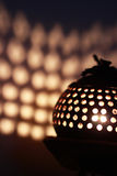 Lamp made from coconut shell Stock Image