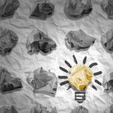 Lamp made ​​of paper and crumpled paper wads Stock Photography