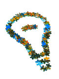 Lamp made of puzzle Stock Images