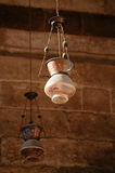 Lamp in Madrasa & Dome Stock Photography