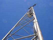 Lamp mast. Light mast at an arena Stock Photo