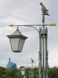 Lamp met de index op het Hazeneiland in St. Petersburg Stock Fotografie