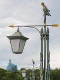 Lamp met de index op het Hazeneiland in St. Petersburg stock fotografie