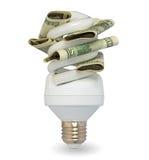 Lamp met dollars Royalty-vrije Stock Foto