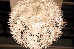 Lamp met een bloemvorm Stock Foto's