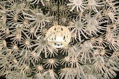 Lamp met een bloemvorm Stock Foto