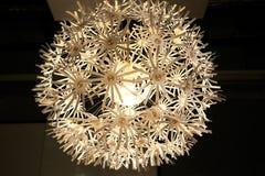 Lamp met een bloemvorm Royalty-vrije Stock Foto