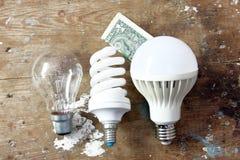 Lamp met geld Royalty-vrije Stock Afbeeldingen