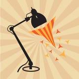 Lamp met zonneschijnachtergrond Stock Foto