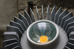 The lamp and metal radiator of a searchlight Stock Photography