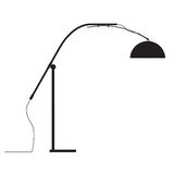 Lamp modern design  outline silhouette Stock Photos