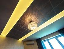 Lamp in modern interior Stock Photos