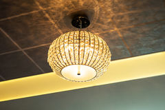 Lamp in modern interior Royalty Free Stock Image