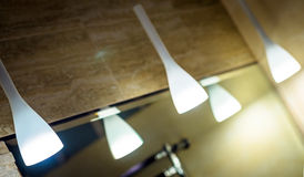 Lamp in modern interior Stock Photography