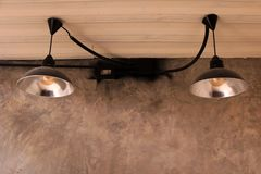 Lamp in modern toilet Royalty Free Stock Images
