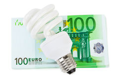 Lamp and money Stock Photo