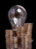 Lamp and money Stock Photos