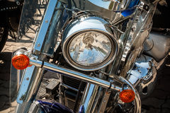 Lamp of the motorcycle Royalty Free Stock Image