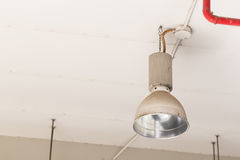 Lamp mounted on the ceiling of the room. Stock Photos